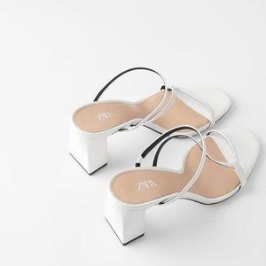 Zara asymmetrical  heeled mule
